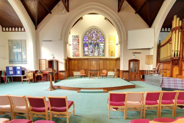 Inside St Luke's Methodist Church