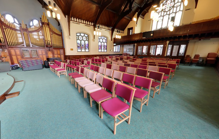 Inside St. Luke's Methodist Church