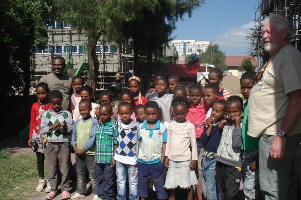 Group Photo in Ethiopia St Luke's Church trip